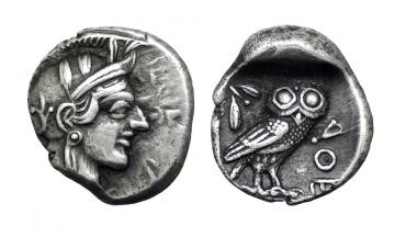 Attica, Athens , Drachm ca. 454-404 BC