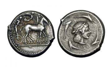 Sicily, Syracuse, Tetradrachm ca. 485-479 BC
