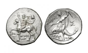 Calabria, Tarentum , Didrachm ca. 240-228 BC