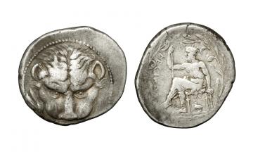 Bruttium, Rhegium, Tetradrachm ca. 450-445 BC
