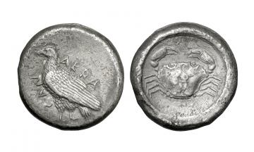 Sicily, Agrigentum, Didrachm ca. 495-480/78 BC