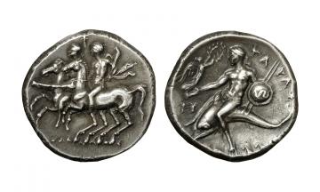 Calabria, Tarentum, Didrachm ca. 281-272 BC