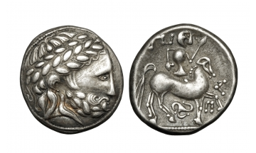 Celts in Eastern Europe, Tetradrachm ca 2-3rd century BC, Ex Weinmeister Collection