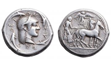 Sicily, Syracuse, Tetradrachm ca. 490-485 BC, rare
