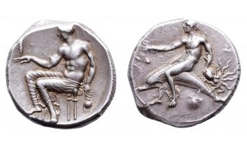 Calabria, Tarentum, Didrachm ca. 425-415 BC