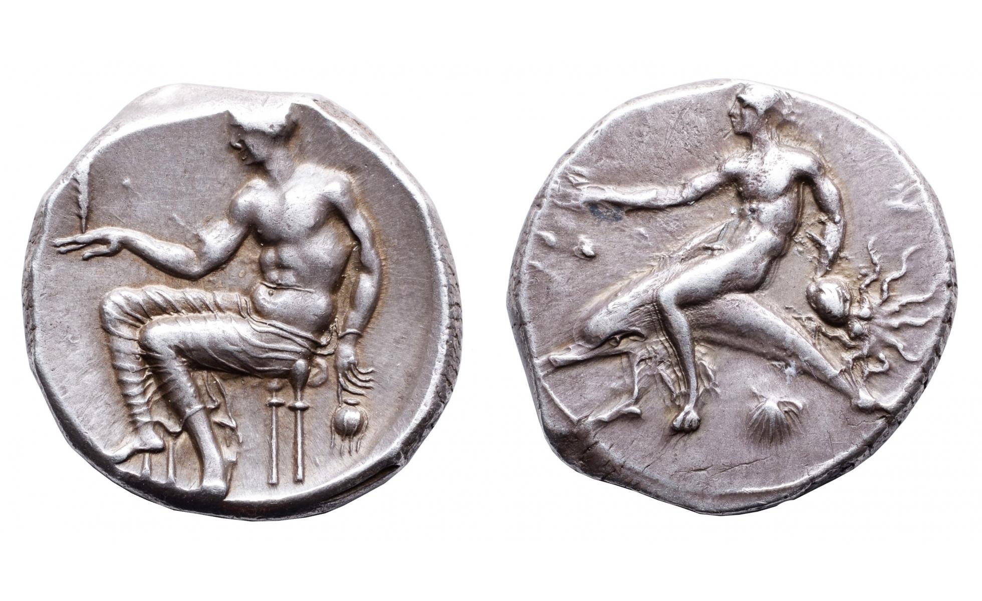 Greek coins, Calabria, Tarentum, Nomos