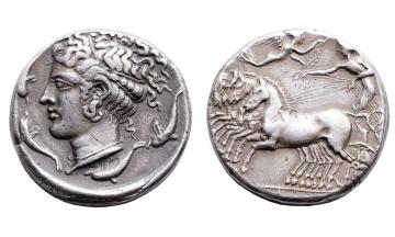 Sicily, Syracuse, Tetradrachm ca. 415-405 BC, rare