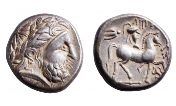 Celtic abstraction, Philip, Tetradrachm ca. 3rd century BC, unknown Celtic tribe