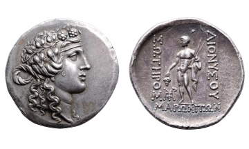 "Thrace, Maroneia, Tetradrachm ca. 120 BC, signed by the ""M engraver"""