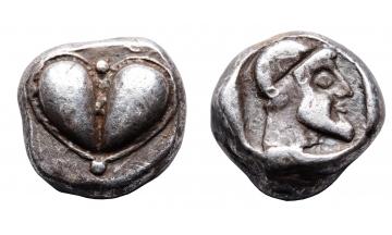 Kyrene, Hemidrachm ca. 490-475 BC, extremely rare