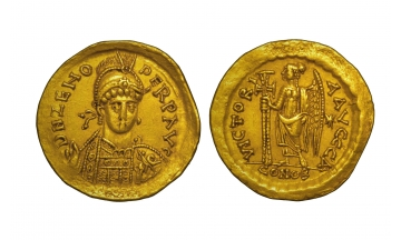 Zeno, the Isaurian, 474-491, Solidus , Constantinople