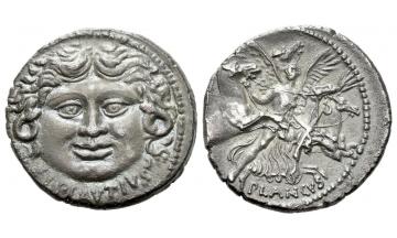 Roman Republic, L. Plautius Plancus, Denarius 47