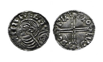 England, Anglo-Saxon, Kings of Denmark and England, Harthacnut, Penny , Lund Skane Mint, Moneyer Throcetel