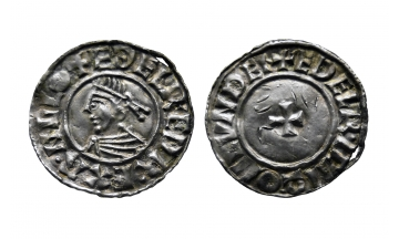 England, Kings of all England, Aethelred II, 978-1016, Penny ca. 1009-1017, York mint