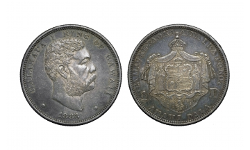 United States, Hawaiian Issue, Kalakaua I, One Dollar 1883, San Francisco mint