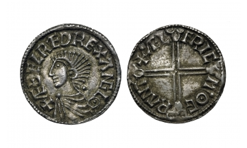 England, Anglo-Saxon, Kings of All England, Æthelred II, 978-1016, Penny struck ca. 997-1003, Cambridge mint, Ælfric, moneyer