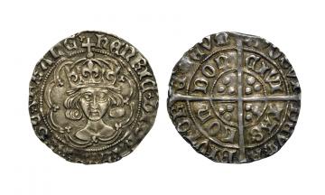 England, Henry VII, 1485-1509, AR Groat , Tower (London) mint