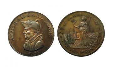 Great Britain, British Token, Hampshire 27 (Scarce), Æ Halfpenny 1797, Emsworth