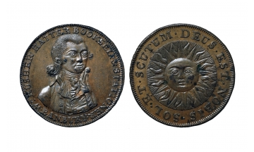 Great Britain, British Token, Oxfordshire 1, Æ Halfpenny 1700's, Banbury