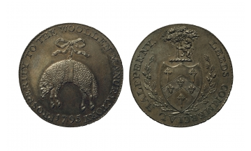 Great Britain, British Token, Yorkshire. Birchall's, CU Halfpenny 1795, Leeds, rare
