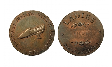 Great Britain, British Token, Middlesex, Carter's, CU Halfpenny 1795
