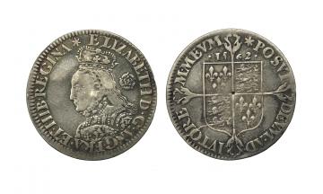 Great Britain, Elizabeth I, 1558-1603, Milled AR 6 Pence ca. 1562