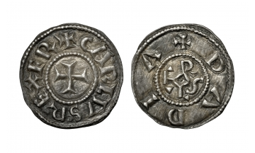 Carolingians. Charlemagne, King of the Franks, 768-814, Denier struck 793/4-812, Pavia mint