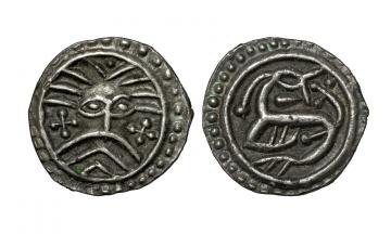 England, Anglo-Saxon, Sceatt ca. 715-800/20, Ribe mint, continental sceattas