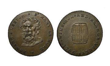 Great Britain, British Token, Middlesex 390, Neeton's, CU Halfpenny 1795