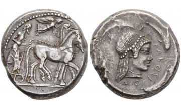 Sicily, Syracuse, Hieron I, 478-466 BC, Tetradrachm, Exceptional details and provenances