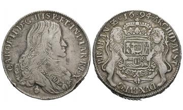 Belgium, Carl II. of Spain (1665-1700), Doppelter Dukaton 1694, Brüssel