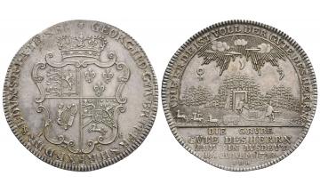 Germany, Braunschweig und Lüneburg, Georg II. (1727-1760), Reichstaler 1756, Zellerfeld