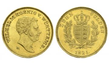 Germany, Württemberg, Wilhelm I. (1816-1864), 10 Gulden 1825