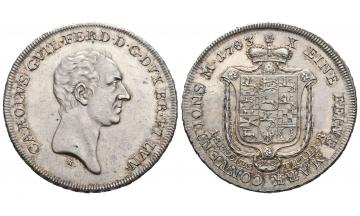 Germany, Braunschweig und Lüneburg, Karl Wilhelm Ferdinand (1780-1806), Konv. Taler 1783