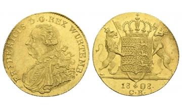 Germany, Württemberg, Friedrich II. (I.) 1797-1816, Ducat 1808, very rare