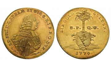 Germany, Würzburg, Adam Friedrich v. Seinsheim (1755-1779), Goldgulden 1774
