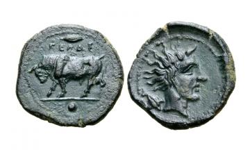 Sicily, Gela, AE Onkia ca. 420-405 BC
