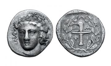 Macedon, Amphipolis, AR Tetrobol c. 367/6 BC