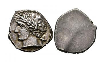 Etruria, Populonia, AR 10 Asses c. 300-250 BC