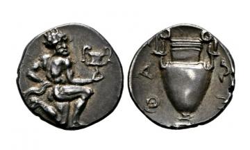 Thrace, Thasos, AR Trihemiobol ca. 412-404 BC