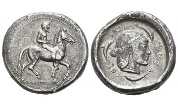 Sicily, Syracuse, Didrachm circa 480 BC