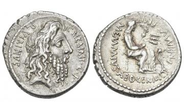 Roman Republic, C. Memmius C. f. , Denarius ca. 56 BC, rare
