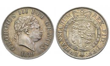 United Kingdom, George III. 1760-1820, 1/2 Crown 1819, London