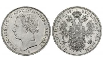 Austria, Franz Josef I. 1848-1916, 1/2 Konventionstaler (Gulden) 1849, A. Wien
