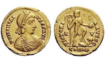 Ravenna, Honorius, 393 – 402 , Solidus AD 402-406, Ravenna