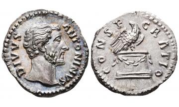 Roman Empire, Divus Antoninus Pius, died AD 161, Denarius, Rome, Consecration issue