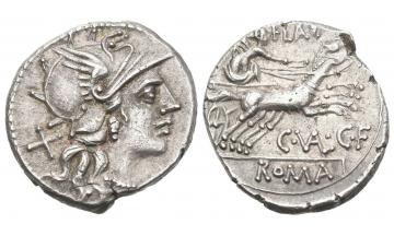 Rome, C. Valerius Flaccus , Denarius 140 BC, Rome