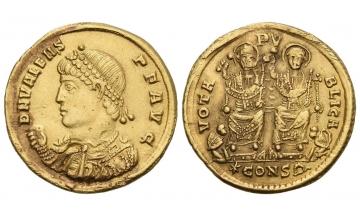 Constantinople, Valens, 364–378, Solidus AD 368
