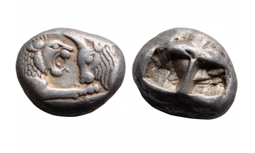 Lydia, King Croesus of Lydia, Double Siglos ca. 550 BC