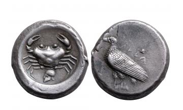 Sicily, Akragas, Didrachm ca. 495-478 BC